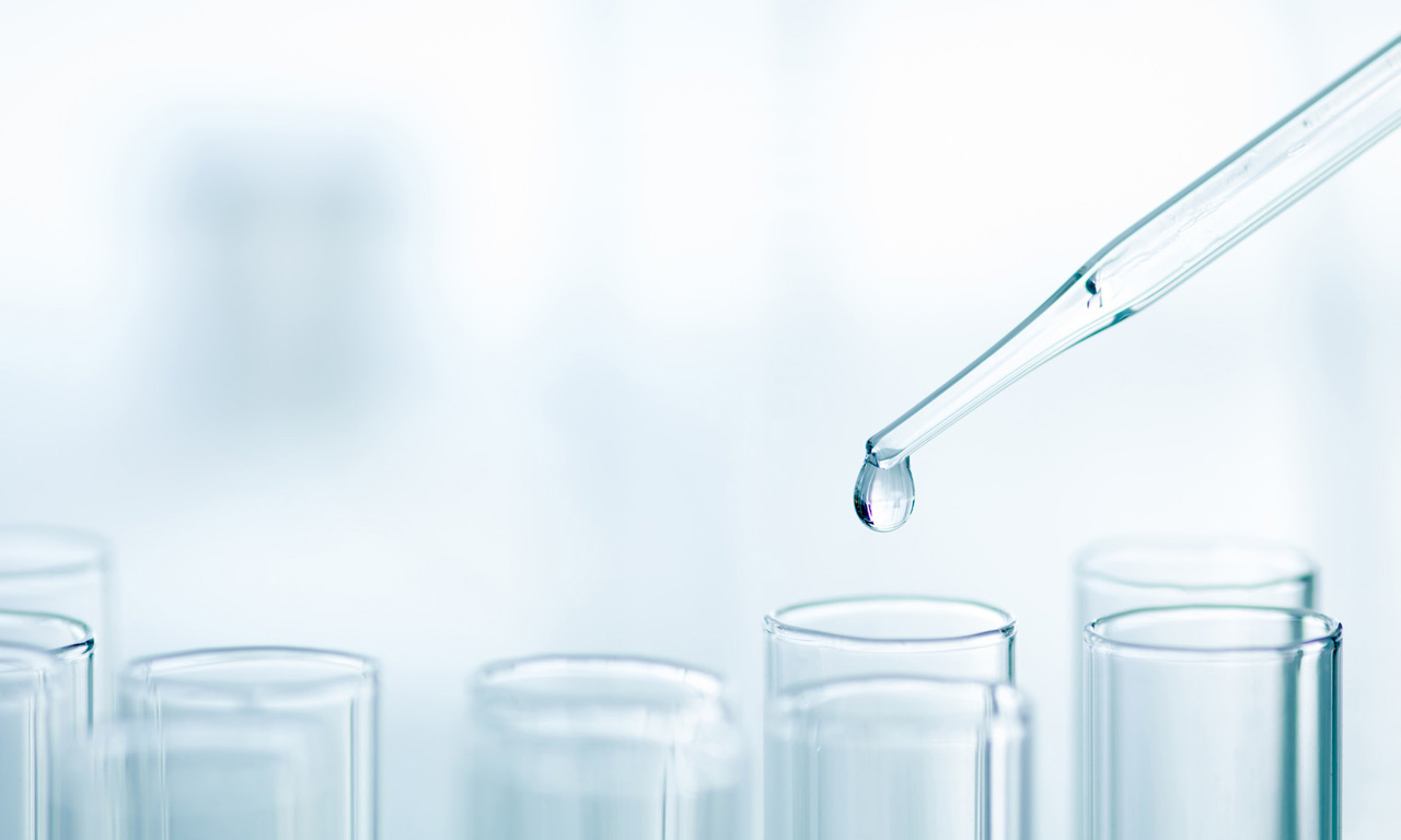 test tubes with pipette