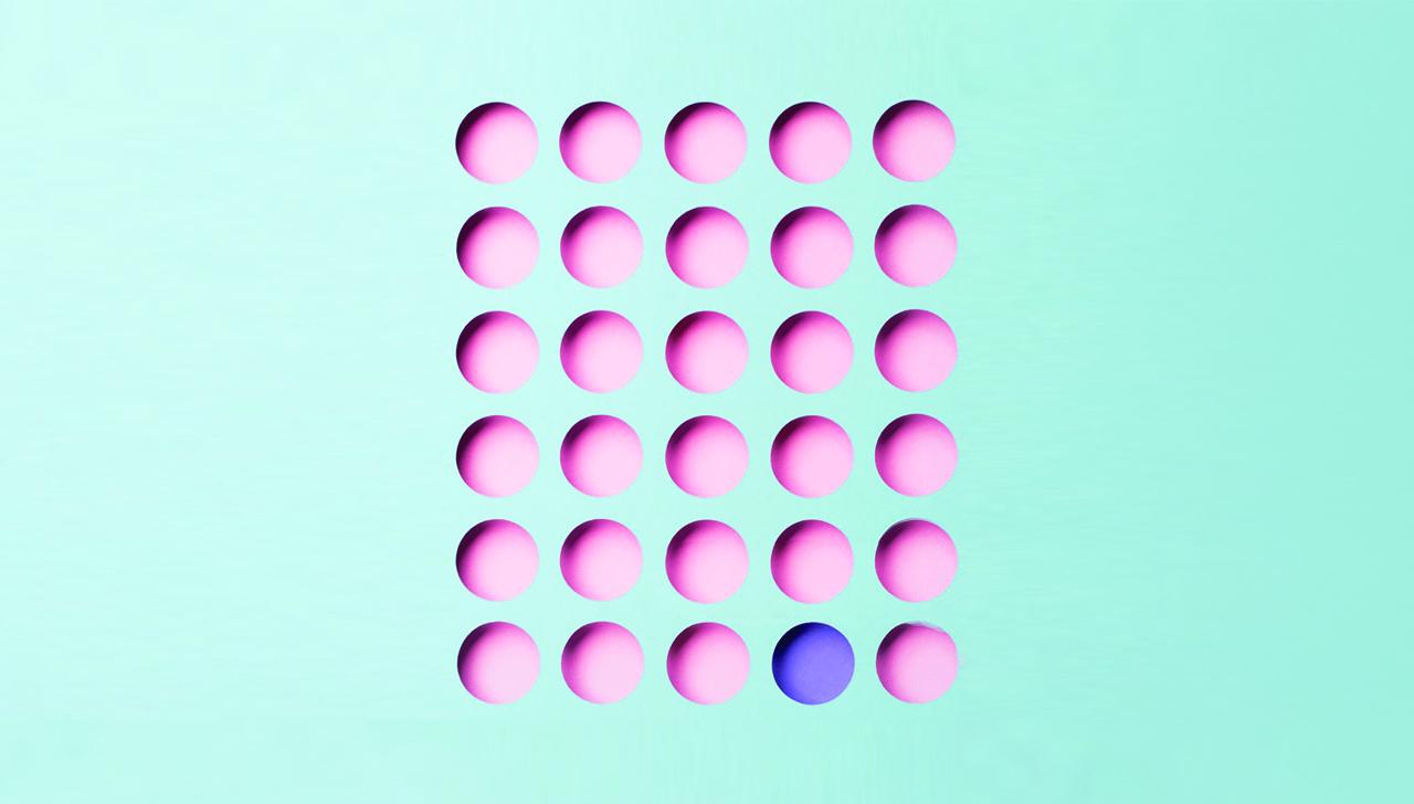 grid of pills