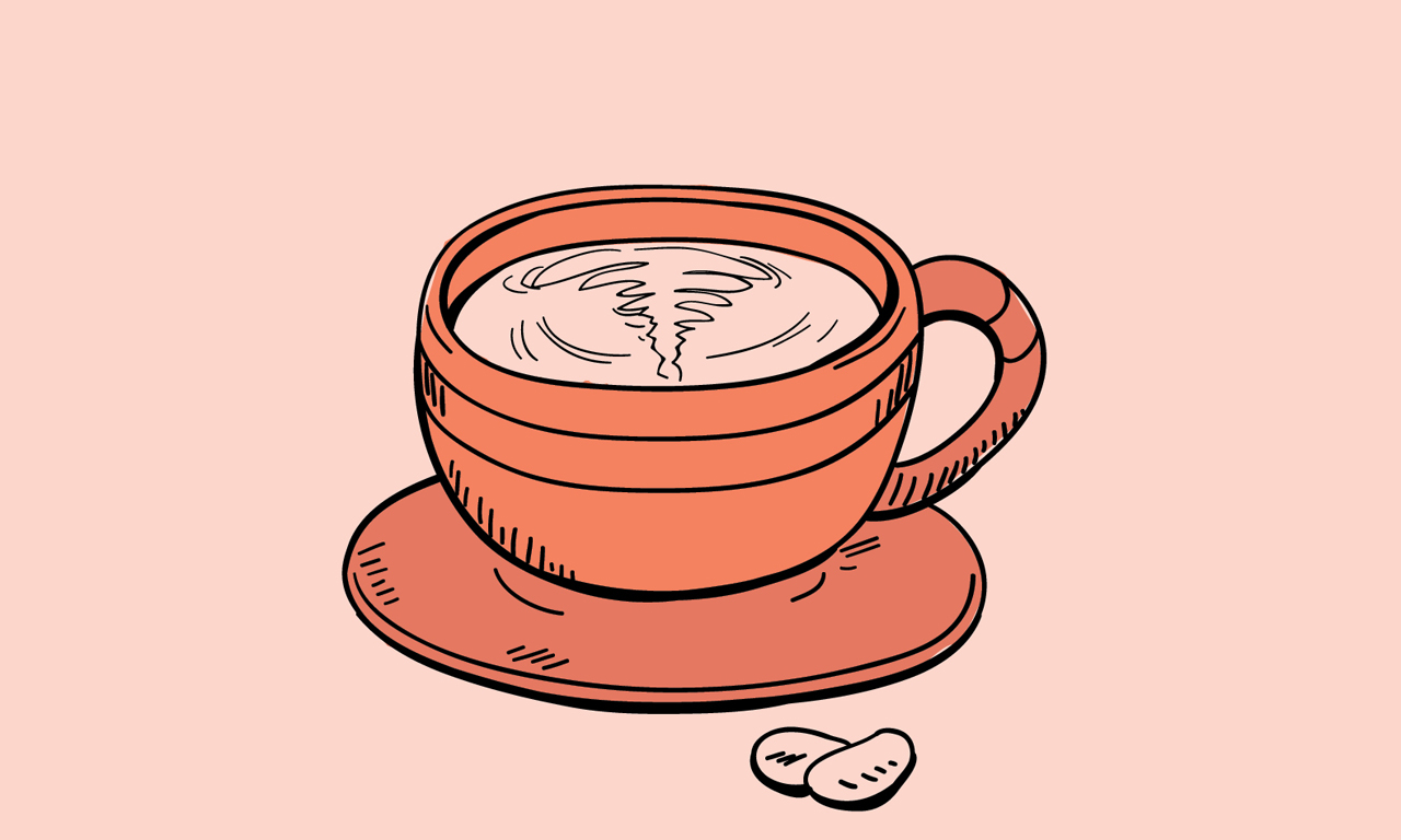 cup of tea with pills