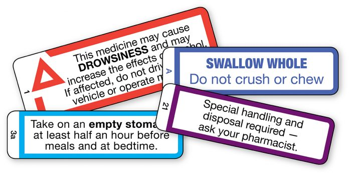 cautionary advisory labels