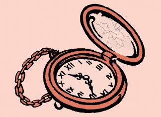 stylised pocketwatch illustration