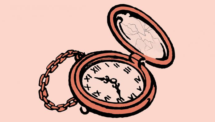 stylised pocketwatch illustration