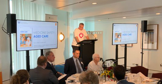 MP Mark Coulter speaking at the launch of the Medicine Safety: Aged Care report at Parliament House