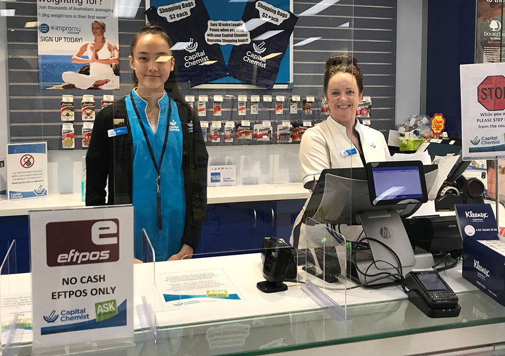 Staff at Southlands pharmacy have been split into two teams