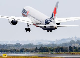A plane taking off at Gold Coast Airport. (Image: Gold Coast Airport)