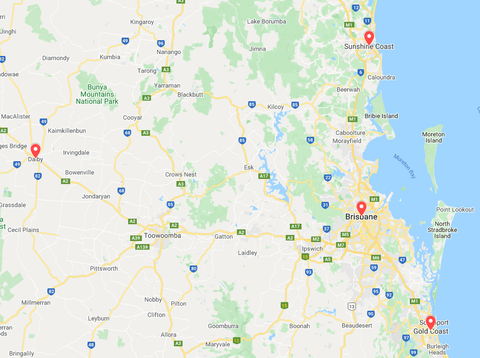 Dalby is in the Darling Downs region of Queensland
