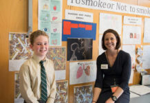 Dr Rosie Nash MPS with a participant in the HealthLit4Kids program.