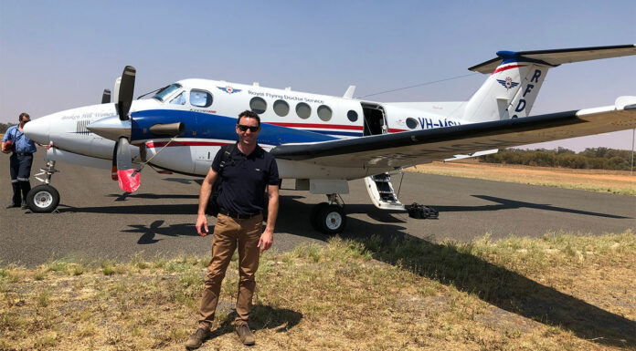 Broken Hill-based pharmacist Andrew Johnson MPS is helping vaccinate patients in remote communities with the RFDS