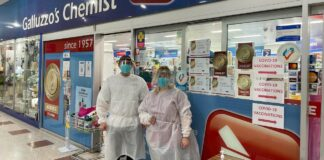 Ben Galluzzo MPS on the first day his pharmacy offered the COVID-19 vaccine to patients